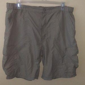 REI Mens Cargo Shorts Size XXL Zip Pockets Elastic